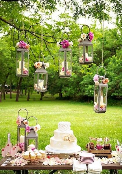 decoracion colgante boda