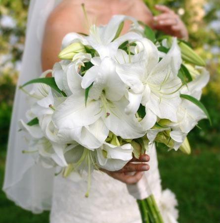 ramos de novia lirios
