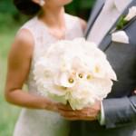 Las flores del ramo de novia