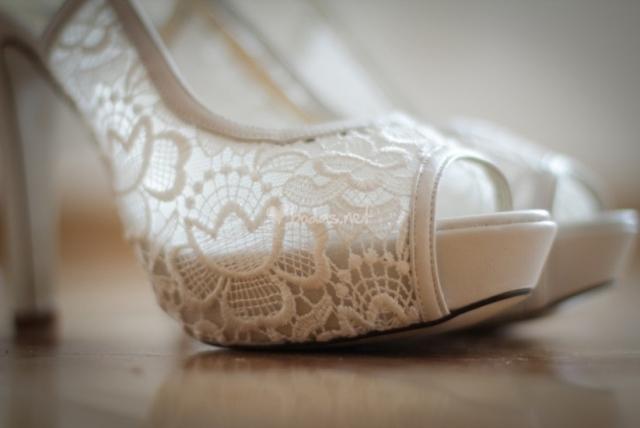 zapato novia brocado